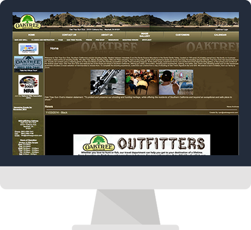 Santa Clarita Website Design Before Screen Shot