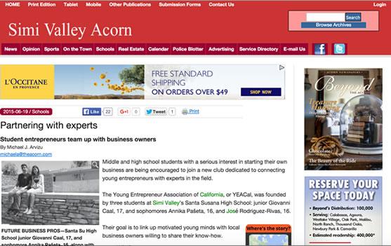 Simi Valley Acorn Website Design